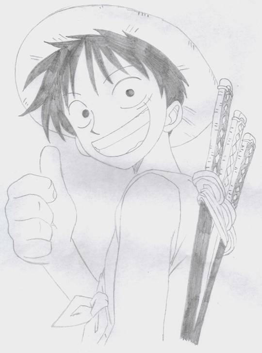 Luffy - One Piece by usagisailormoon20