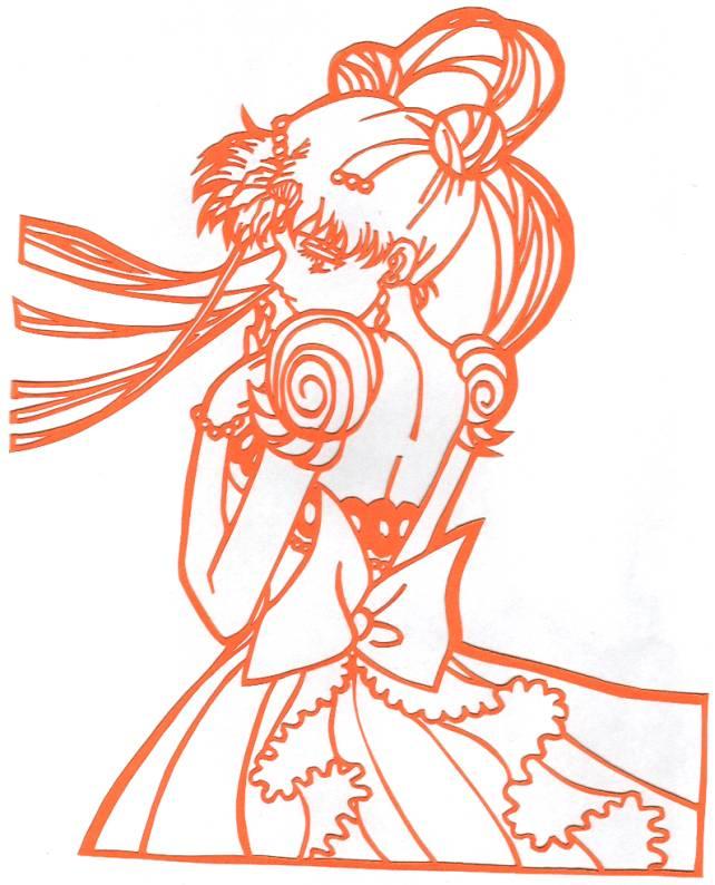Princess Serenity 2 Papercut by usagisailormoon20