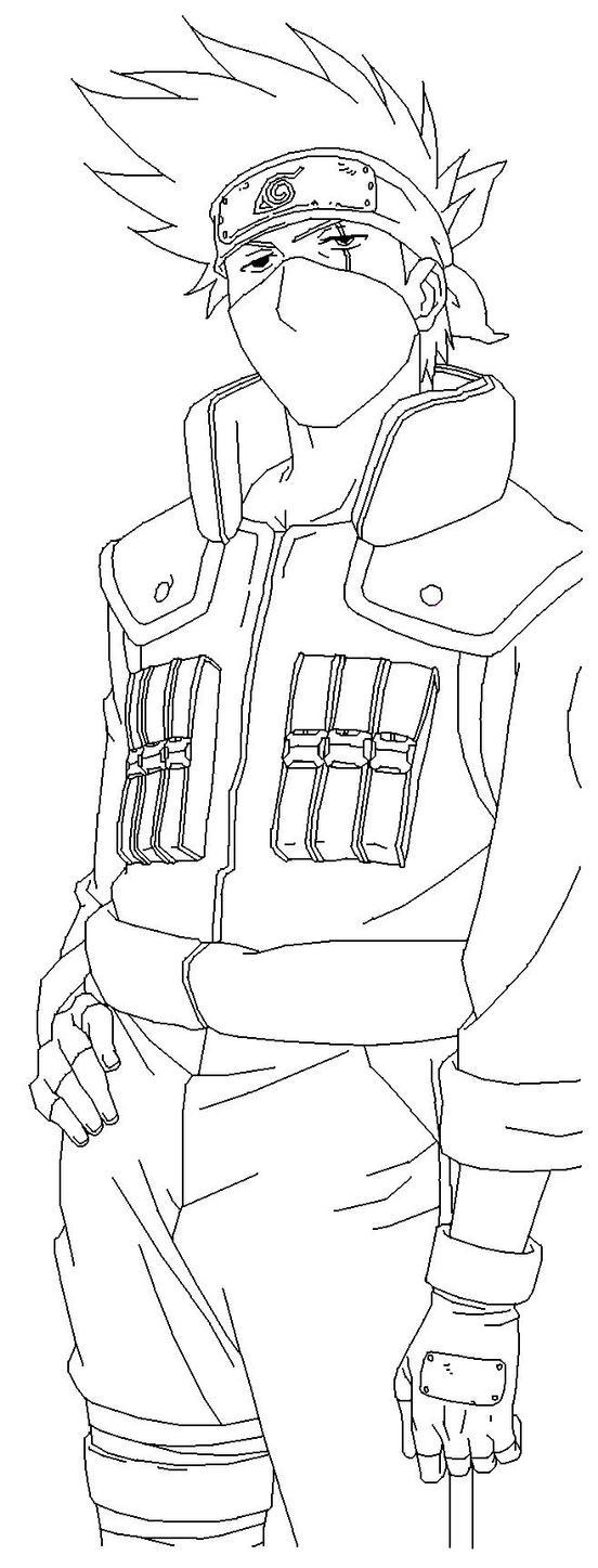 Kakashi hatake blank by usagisailormoon20 on deviantart for Kakashi coloring pages