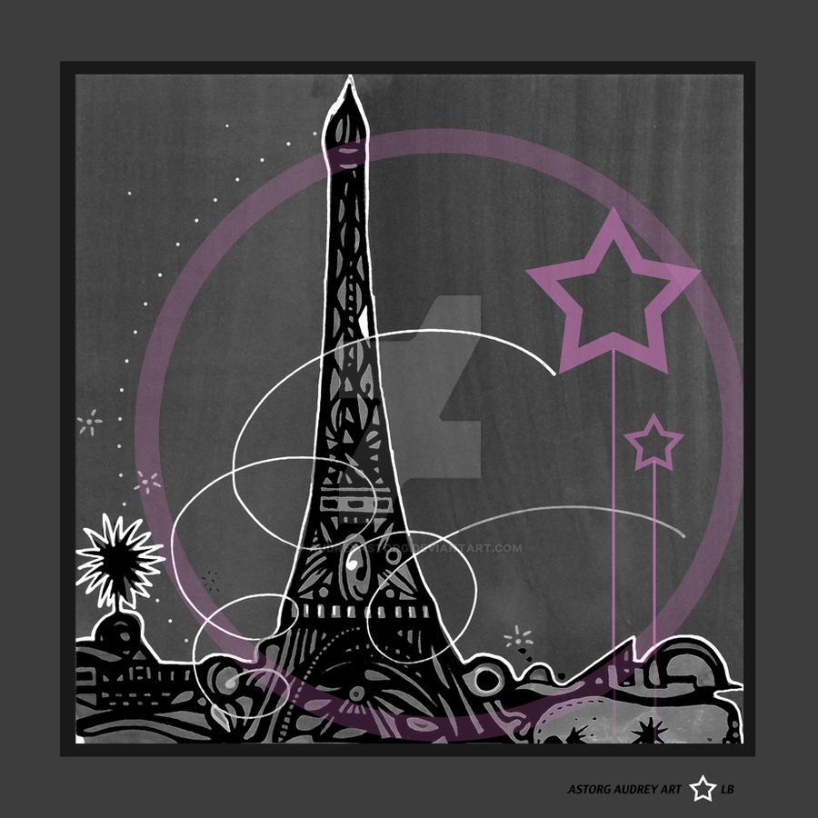 Tour eiffel la vie en rose by AUDREYASTORG