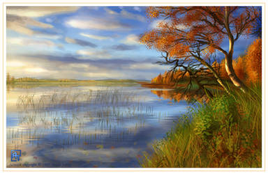 Autumn Painting by ArunaTramp