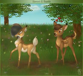 Honovi with Bambi