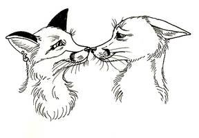 Fox Love by GrimVixen
