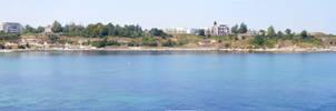 Carevo Beach panorama by simeonradivoev
