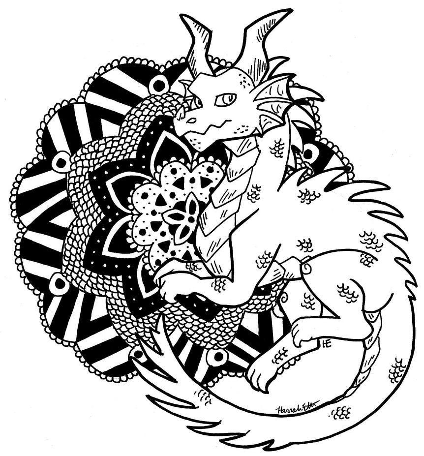 Color me dragon mandala by theleatherdragoni on deviantart - Mandala dragon ...