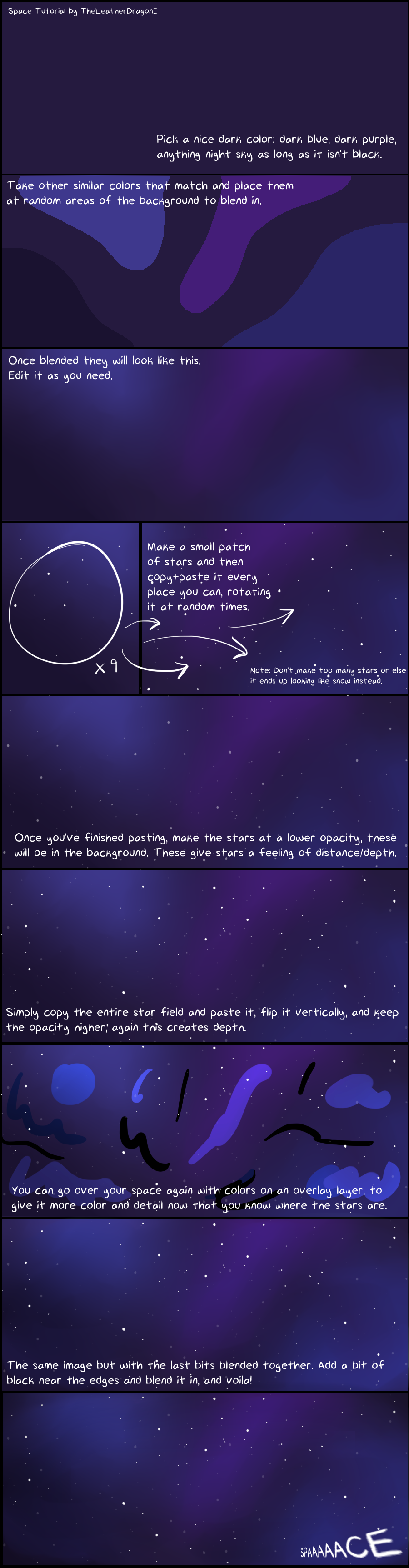 Space tutorial by theleatherdragoni on deviantart for Space art tutorial