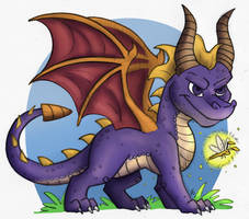 Spyro the Dragon by TheLeatherDragonI