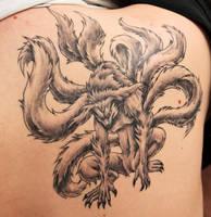 My tattoo: Kitsune by Anubic90