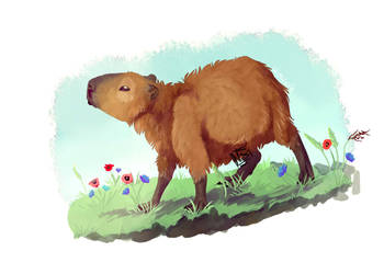Capybara by Leaquoia