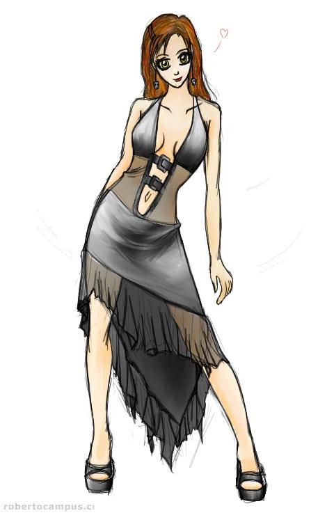 anime sexy dress