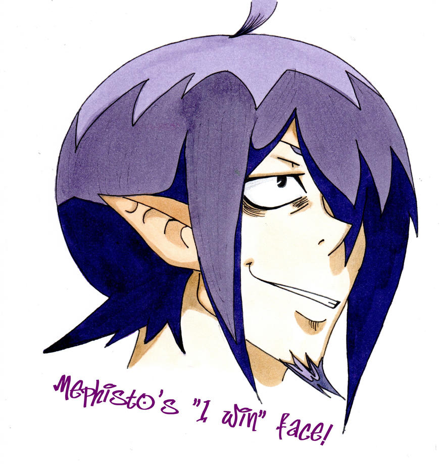 mephistos i win face by amaimongirl on deviantart