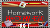 Anti-homework stamp by Cesar-sama