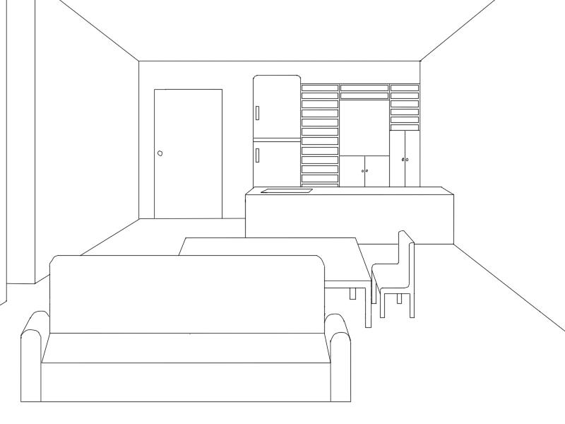 Line Art Floors : Hetaoni floor kitchen line art incomplete by