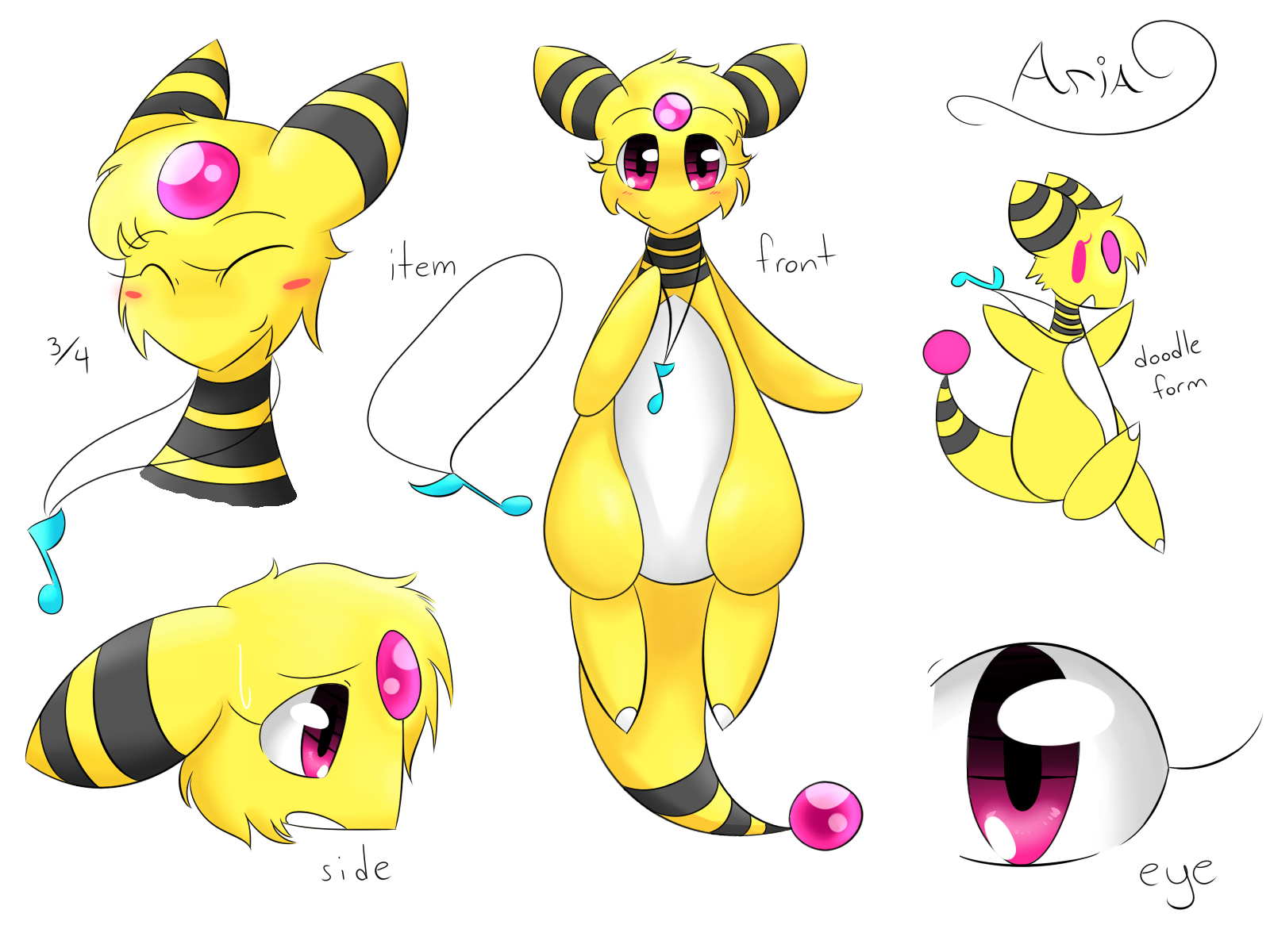 Aria the Ampharos Ref by honrupi