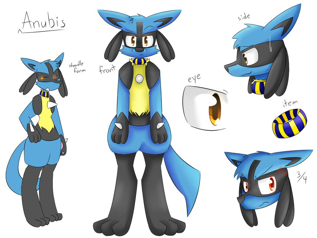 Anubis the Lucario Ref by honrupi
