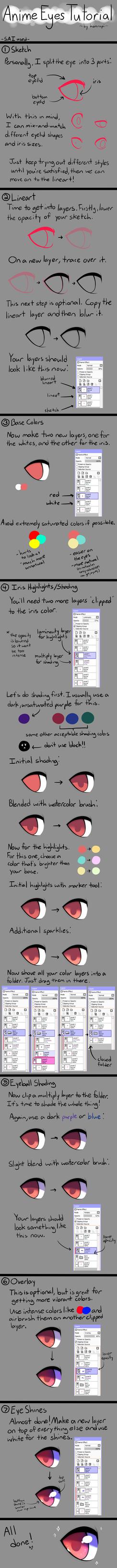 Anime Eyes Tutorial by honrupi