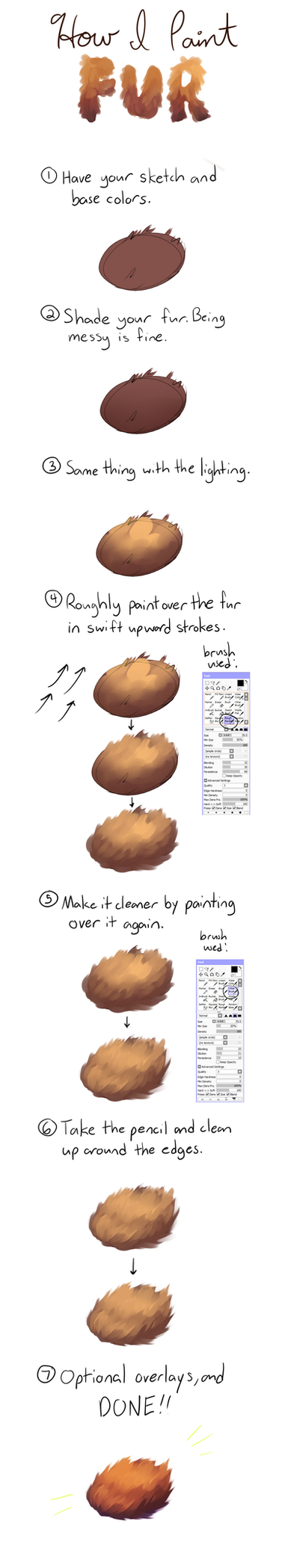 How I Paint Fur by honrupi