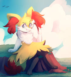 Braixen by honrupi