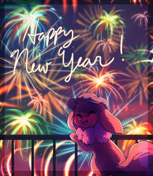 A New Year's Eevee by honrupi