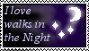 I Love Walks In The Night Stamp by whisperofstars