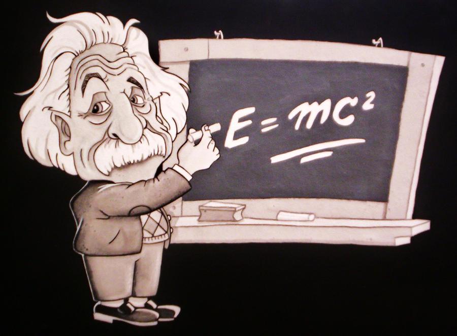 Caricatura de Einstein   Einstein caricature by cristiandrawing