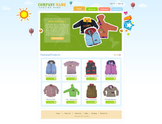 Kids Clothes UI