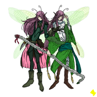 The Pixie-Twins, Kaster and Jaster by MadHatter-Himself
