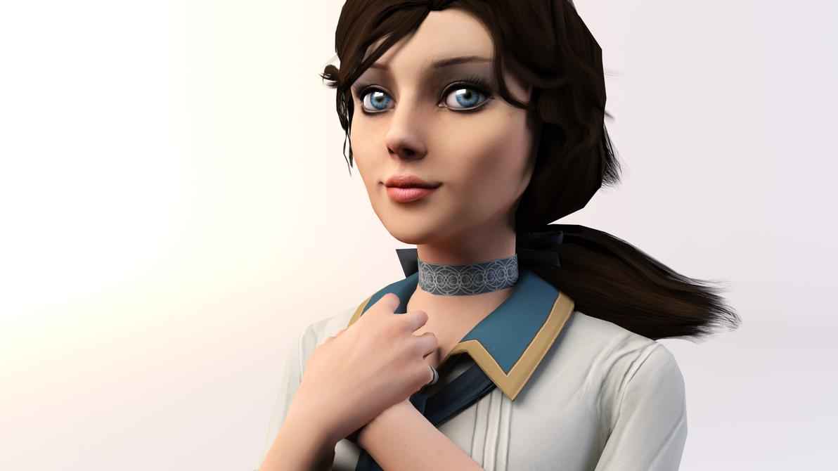 3DS Max - Elizabeth (BioShock Infinite) by SilverMoonCrystal
