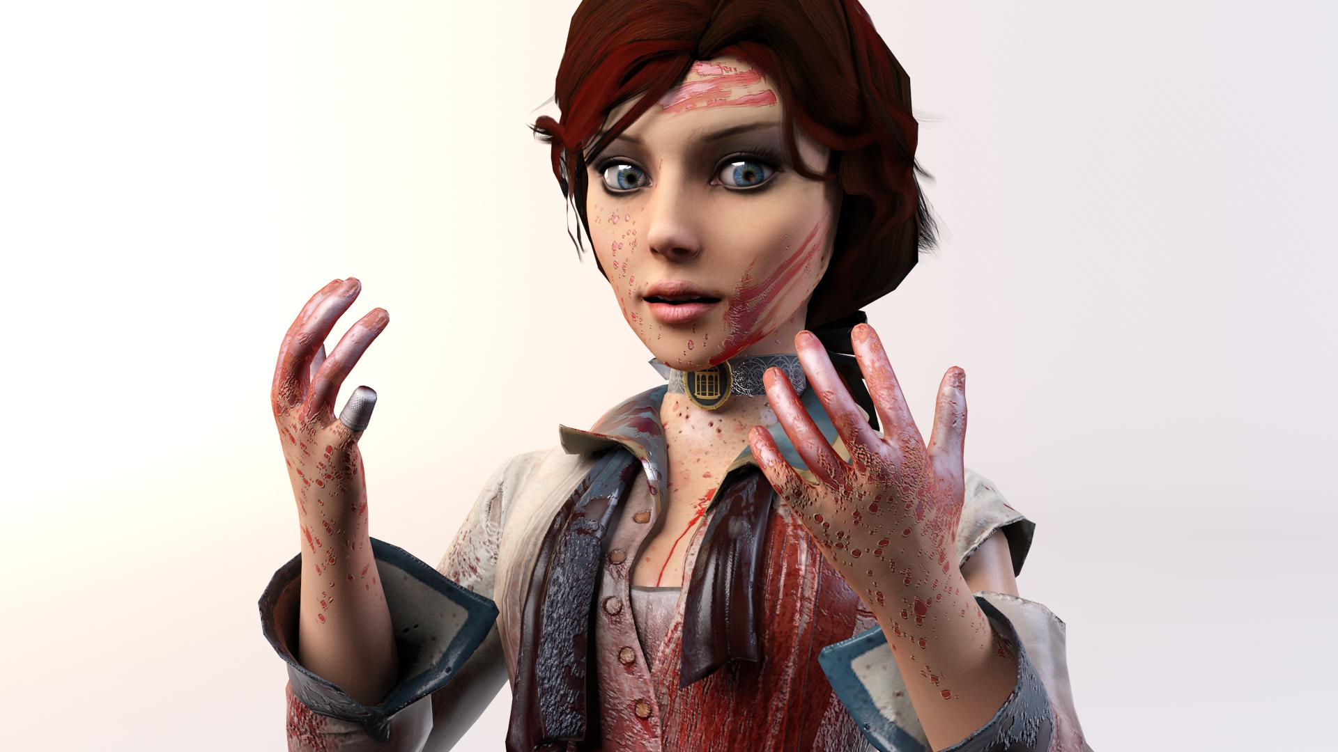 3DS Max - Elizabeth (BioShock Infinite) 3 by SilverMoonCrystal