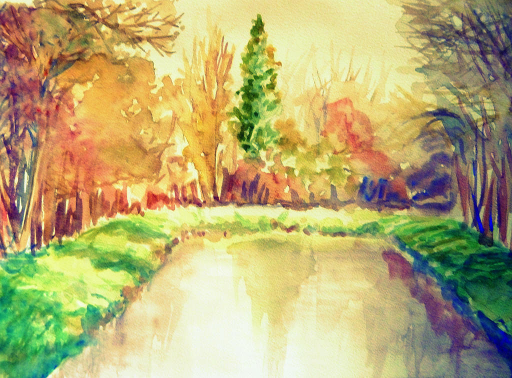 Colorful Nature Watercolor~ by LuxPokedex on DeviantArt