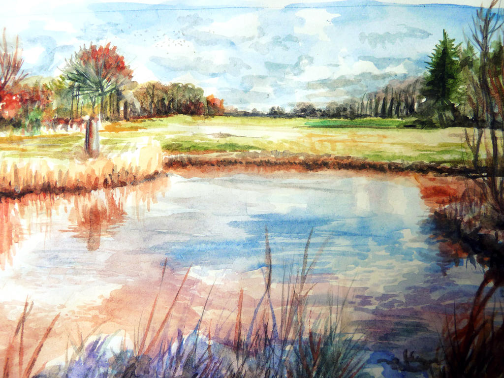 Colorful nature watercolor by luxpokedex on deviantart - Colorful nature pics ...