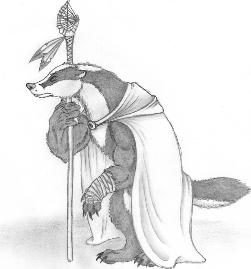 Badger Shaman by SweeneyxLovett4ever