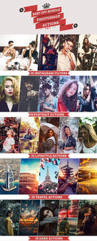 BEST OFF BUNDLE 125 Photoshop Actions Download by Bato-Gjokaj