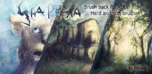 Shapesia - brush pack for Krita