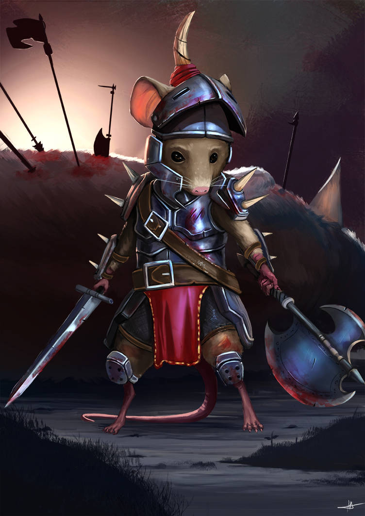 Mouse Warrior by Jahwa