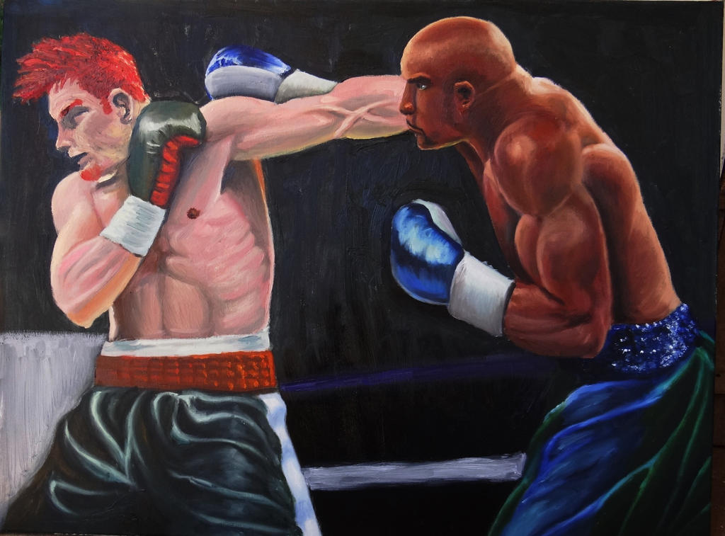 Oil study - Boxers by mentat0209