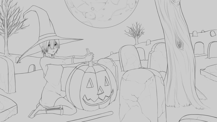 Halloween Rem Wip by Rocky-Ace