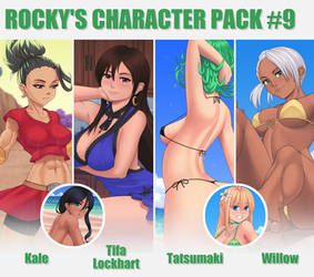 Gumroad character Pack #9