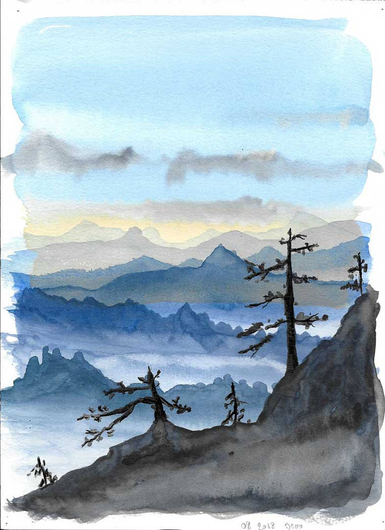 Chinese Mountain v2 by arilir