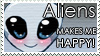 .: Aliens makes me happy :. by PirateHearts