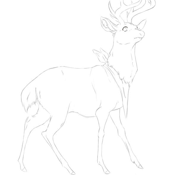 Line Art Deer : Deer ai lineart by piratehearts on deviantart