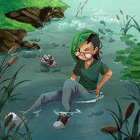 .: Falling to the Pond :. by PirateHearts