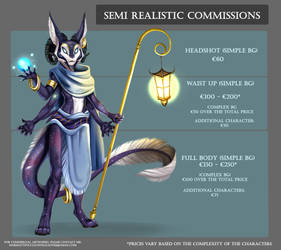 .: Semi Realistic Commishes prices :.