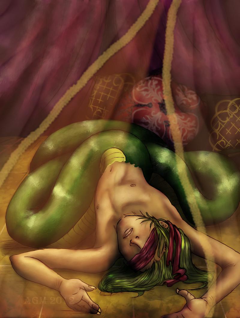 Blind Naga by Alheli-delaGarza