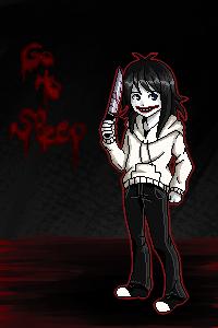 Jeff the killer pixelated by Chiari-chan