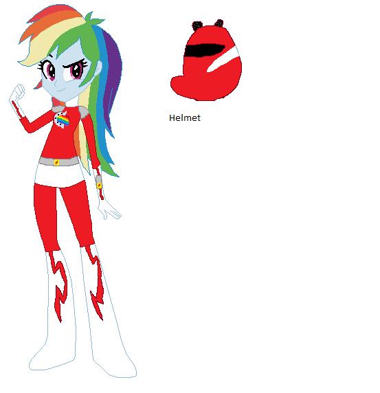 Rainbow Dash Red Ranger by sonicspeedster92
