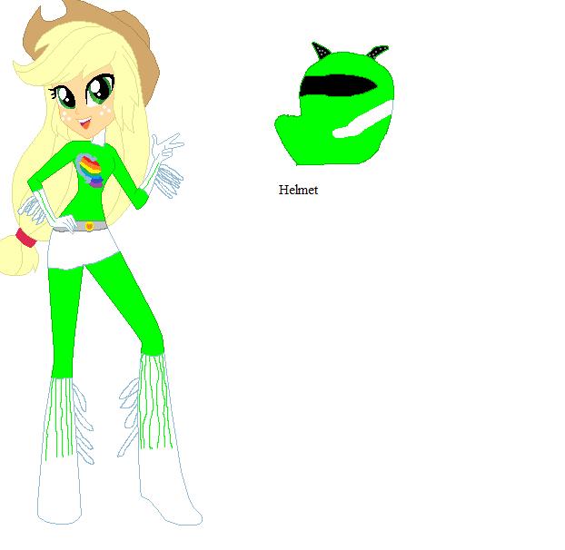 Applejack Green Ranger by sonicspeedster92