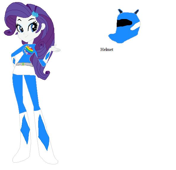 Rarity Blue Ranger by sonicspeedster92