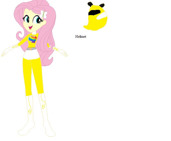 Fluttershy Yellow Ranger by sonicspeedster92