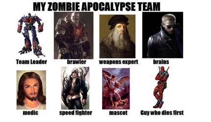 Zombie Apocalypse Team by ijustlikehalo